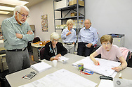 Staff members at the Bucks County Board of Elections conduct the official tally for the 2015 general election Friday November 6, 2015 in Doylestown, Pennsylvania.  (Photo by William Thomas Cain)
