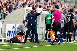 Bristol Rovers Manager Darrell Clarke shows his displeasure after Oxford United score to make it 0-1 - Rogan/JMP - 14/10/2017 - FOOTBALL - Memorial Stadium - Bristol, England - Bristol Rovers v Oxford United - EFL Sky Bet League One.