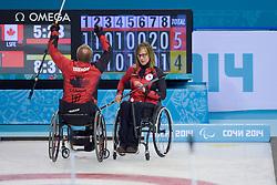 Dennis Thiessen, Sonja Gaudet, Wheelchair Curling Semi Finals at the 2014 Sochi Winter Paralympic Games, Russia
