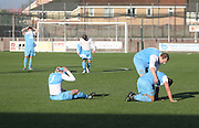 Dejection for Fairfield after defeat of penalties - Harvester v Fairfield - Fosters Scottish Sunday Trophy semi final<br /> <br />  - &copy; David Young - www.davidyoungphoto.co.uk - email: davidyoungphoto@gmail.com