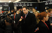 Jared Fogle, The SUBWAY Guy, is seen backstage at the Go Red For Women The Heart Truth Red Dress Collection 2014, made possible by Macy's and SUBWAY Restaurants, Thursday, Feb. 6, 2014, during Fashion Week in New York.  (Photo by Diane Bondareff for Go Red For Women)
