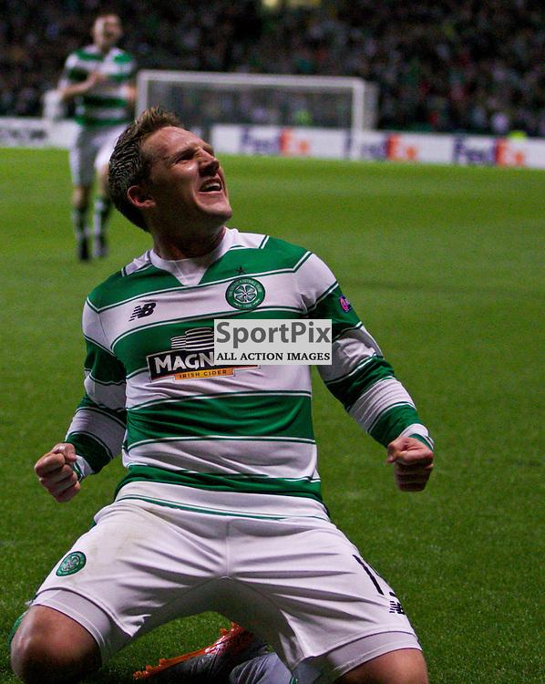 CelticÕs Kris Commons celebrates his goal during the Glasgow Celtic FC v Fenerbahe S.K Europa League Group A 1st October 2015 ©Edward Linton | SportPix.org.uk
