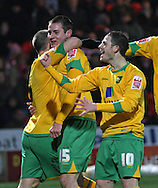 Doncaster - Friday January 30th 2009: Jonathan Grounds & Jamie Cureton of Norwich City Celebrates scoring a goal during the Coca Cola Championship Match at The Keepmoat Stadium Doncaster. (Pic by Steven Price/Focus Images)