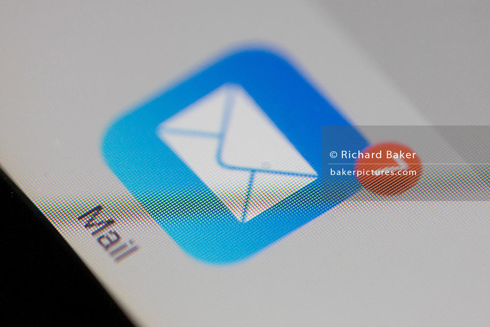 A detail from an iPad screen of Apple's Mail icon.