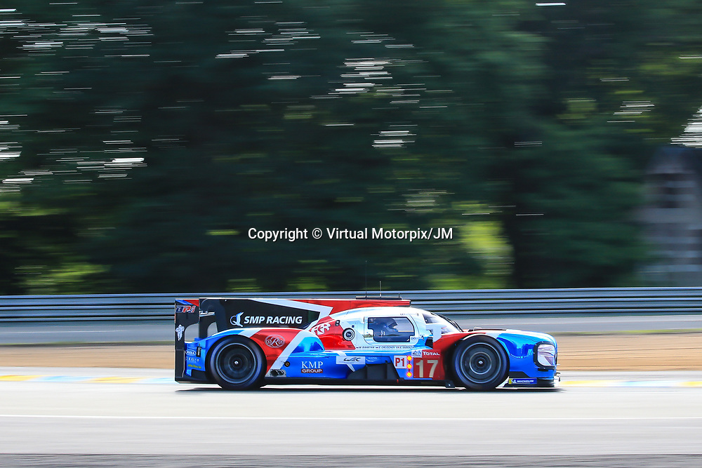 #17, SMP Racing, BR Engineering BR1- AER, LMP1 driven by: Stephane Sarrazin, Egor Orudzhev, Matevos Isaakyan, 24 Heures Du Mans  2018, , 16/06/2018,