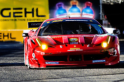 LONG BEACH, CA - APR 16: American Le Mans team Risi Competizione race their Ferrari F458 Italia during the American Le Mans Series race at the 37th Toyota Grand Prix of Long Beach 2011. Photo by Eduardo E. Silva