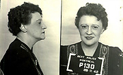 Prostitutes And Madams: Mugshots From When Montreal Was Vice Central<br /> <br /> Montreal, Canada, 1949. Le Devoir publishes a series of articles decrying lax policing and the spread of organized crime in the city. Written by campaigning lawyer Pacifique &lsquo;Pax&rsquo; Plante (1907 &ndash; 1976) and journalist G&eacute;rard Filion, the polemics vow to expose and root out corrupt officials.<br /> <br /> With Jean Drapeau, Plante takes part in the Caron Inquiry, which leads to the arrest of several police officers. Caron JA&rsquo;s Commission of Inquiry into Public Morality began on September 11, 1950, and ended on April 2, 1953, after holding 335 meetings and hearing from 373 witnesses. Several police officers are sent to prison.<br /> <br /> During the sessions, hundreds of documents are filed as evidence, including a large amount of photos of places and people related to vice.  photos of brothels, gambling dens and mugshots of people who ran them, often in cahoots with the cops &ndash; prostitutes, madams, pimps, racketeers and gamblers.<br /> <br /> Photo shows: Ruby Taylor, ann&eacute;es 1940 &ndash; arrested at 1225 Bullion on 1 May 1942 in connection with an investigation related to prostitution.<br /> &copy;Archives de la Ville de Montr&eacute;al/Exclusivepix Media
