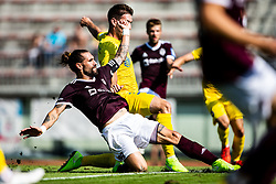 Majcen Luka of NK Triglav during football match between NK Triglav and NK Domzale in 9th Round of Prva liga Telekom Slovenije 2019/20, on September 15, 2019 in Sport park Kranj, Kranj, Slovenia. Photo by Grega Valancic / Sportida