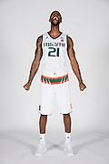 September 28, 2016: Kamari Murphy #21 poses during  Miami Hurricanes Men's Basketball Photo Day in Coral Gables, Florida.
