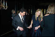 ANDRE BALAZS; KINVARA BALFOUR, Party to celebrate Vanity Fair's very British Hollywood issue. Hosted by Vanity Fair and Working Title. Beaufort Bar, Savoy Hotel. London. 6 Feb 2015