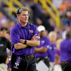 Sep 14, 2019; Baton Rouge, LA, USA; Northwestern State Demons head coach  during the first quarter against the LSU Tigers at Tiger Stadium. Mandatory Credit: Derick E. Hingle-USA TODAY Sports