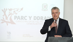 NEWPORT, WALES - Saturday, April 20, 2013: First Minister Carwyn Jones at the opening of the FAW National Development Centre in Newport. (Pic by David Rawcliffe/Propaganda)