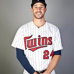 Feb 19, 2013; Fort Myers, FL, USA; Minnesota Twins third baseman Trevor Plouffe (24) poses for a portrait during photo day at Hammond Stadium. Mandatory Credit: Derick E. Hingle-USA TODAY Sports