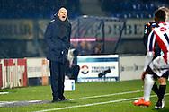 13-02-2016 VOETBAL:WILLEM II-DE GRAAFSCHAP:TILBURG<br /> Willem II trainer Jurgen Streppel is kwaad op  Bartholomew Ogbeche van Willem II <br /> Foto: Geert van Erven