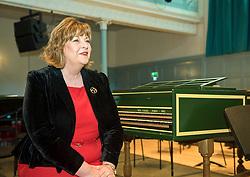 Pictured: Fiona Hyslop, Culture Secretary<br /> Culture Secretary Fiona Hyslop announced a £650,000 grant for building improvements at the Queen's Hall, Edinburgh. <br /> <br /> <br /> © Jon Davey/ EEm