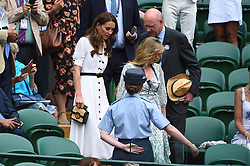 The Duchess of Cambridge in the royal box of centre court on day two of the Wimbledon Championships at the All England Lawn Tennis and Croquet Club, Wimbledon, London, UK, July 2, 2019. Photo by ABACAPRESS.COM