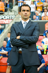 WIGAN, ENGLAND - Saturday, August 22, 2009: Wigan Athletic's manager Roberto Martinez during the Premiership match against Manchester United at the DW Stadium. (Photo by David Rawcliffe/Propaganda)
