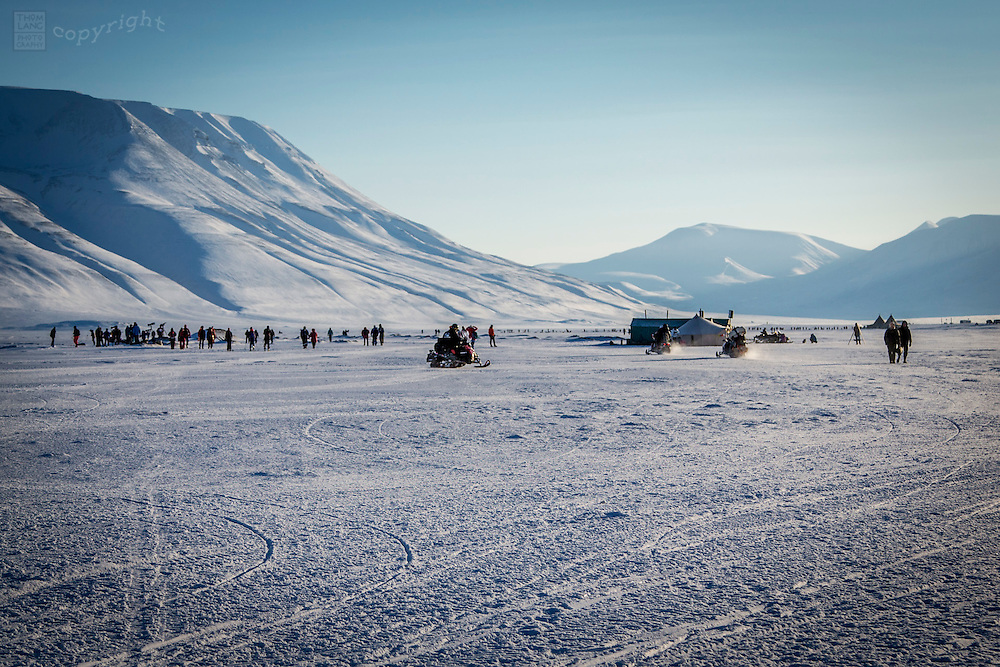 Svalbard, Norway during the 2015 total solar eclipse