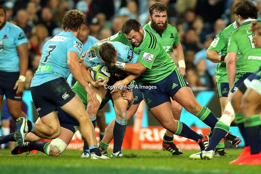 Brendon Edmonds, NSW Waratahs v Otago Highlanders Semi Final. Sport Rugby Union Super Rugby Domestic Provincial. Allianz Stadium SFS. 27 June 2015. Photo by Paul Seiser/SPA Images