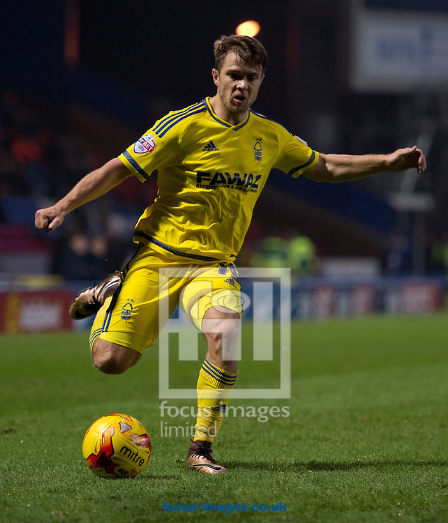 Jamie Ward of Nottingham Forest during the Sky Bet Championship match at Ewood Park, Blackburn<br /> Picture by Russell Hart/Focus Images Ltd 07791 688 420<br /> 14/12/2015