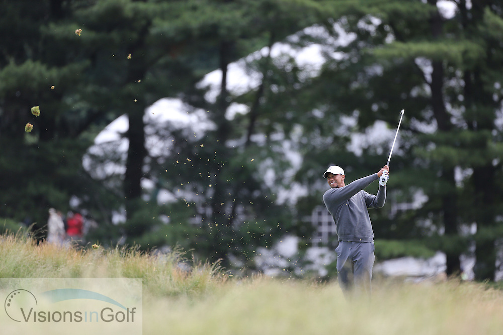 on the second day at the US Open Championship, Merion East, PA. USA 2013 <br /> Picture Credit:  Mark Newcombe / visionsingolf.com