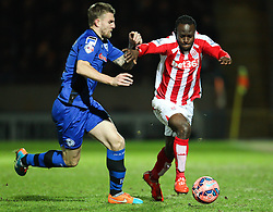 Stoke City's Victor Moses attacks - Photo mandatory by-line: Matt McNulty/JMP - Mobile: 07966 386802 - 26/01/2015 - SPORT - Football - Rochdale - Spotland Stadium - Rochdale v Stoke City - FA Cup Fourth Round