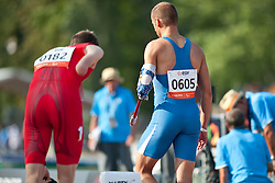 Behind the scenes, GOBBI Samuele, ITA, 400m, T46, 2013 IPC Athletics World Championships, Lyon, France