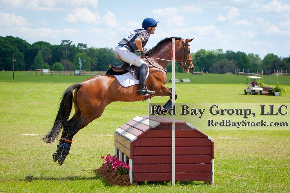 Michael Pollard (USA) and Halimey at the 2014 Ocala Horse Properties International 3-Day Event in Ocala, Florida.