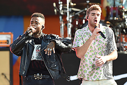August 10, 2018 - New York, NY, USA - August 10, 2018 New York City..Drew Love with Drew Taggart of The Chainsmokers performing on Good Morning America's Summer Concert Series in Central Park on August 10, 2018 in New York City. (Credit Image: © Kristin Callahan/Ace Pictures via ZUMA Press)