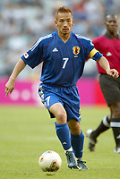 FOTBALL - CONFEDERATIONS CUP 2003 - GROUP A - 030618 - NEW ZEALAND v JAPAN - HIDETOSHI NAKATA (JAP) - PHOTO STEPHANE MANTEY / DIGITALSPORT