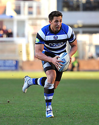 Gavin Henson (Bath) in possession - Photo mandatory by-line: Patrick Khachfe/JMP - Tel: Mobile: 07966 386802 11/01/2014 - SPORT - RUGBY UNION -  Rodney Parade, Newport - Newport Gwent Dragons v Bath - Amlin Challenge Cup.