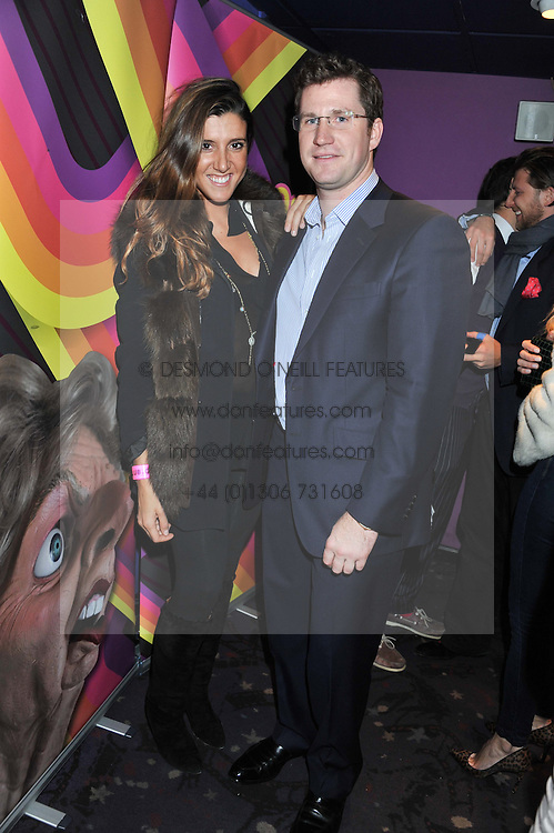 EDWARD HAUGHEY and FRANCESCA RICCI at a private screening of the film The Iron Lady hosted by nightclub Maggie's held at Cineworld, King's Road, London on 19th January 2012.