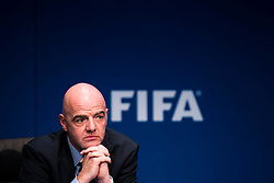 18.03.2016, Zuerich, SUI, Tagung FIFA Exekutivkomitee, im Bild The President of the FIFA Gianni Infantino (SUI) speaks at the FIFA Executive Committee meeting in Zurich // during the FIFA Executive Committee meeting in Zuerich, Switzerland on 2016/03/18. EXPA Pictures © 2016, PhotoCredit: EXPA/ Freshfocus/ Urs Lindt<br /> <br /> *****ATTENTION - for AUT, SLO, CRO, SRB, BIH, MAZ only*****
