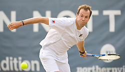 NOTTINGHAM, ENGLAND - Friday, June 12, 2009: Greg Rusedski (GBR) on day two of the Tradition Nottingham Masters tennis event at the Nottingham Tennis Centre. (Pic by David Rawcliffe/Propaganda)