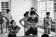 "Children dance to ""Gangnam Style' at a day center for Dioxin affected children in Danang, Vietnam. Danang was one of the most heavily affected regions, and it's estimated there are still about 5,000 affected residents still in the area, of which about 1,200 are children. DAVA  (Danang Association of Agent Orange Victims) operates three day centers for the children with some independent capacities, a place where they can learn life skills, basic education, and socialize without being stigmatized in the outside world."