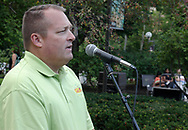 Kettering-Moraine-Oakwood Chamber of Commerce membership chair Kevin Jones measures off raffle tickts during the 21st annual The Taste in the Lincoln Park Commons area at the Fraze Pavilion, Thursday, September 3, 2009.