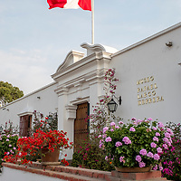The entrance to the main galleries at the Museo Larco in Lima, Peru.