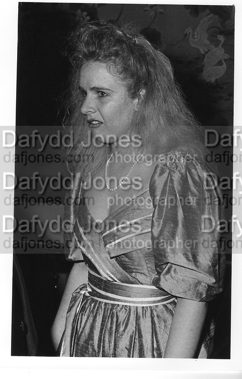Miss Sarah Burge ,at the Berkeley Dress Show at the Savoy 11/4/88 ONE TIME USE ONLY - DO NOT ARCHIVE  © Copyright Photograph by Dafydd Jones 66 Stockwell Park Rd. London SW9 0DA Tel 020 7733 0108 www.dafjones.com