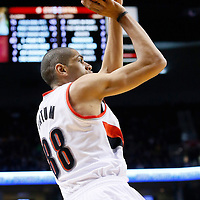 06 December 2013: Portland Trail Blazers small forward Nicolas Batum (88) takes a jumpshot during the Portland Trail Blazers 130-98 victory over the Utah Jazz at the Moda Center, Portland, Oregon, USA.