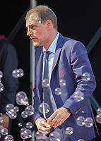 Football - 2016 / 2017 Premier League - West Ham United vs. AFC Bournemouth<br /> <br /> West Ham Manager Slaven Bilic amongst the West ham bubbles at The London Stadium.<br /> <br /> COLORSPORT/DANIEL BEARHAM