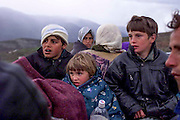Albania April 17.th 1999. Kosovo albanian refugees. Jusuf Jusuf and his family is on their way from Kukes to Tirana, to get away from the suffering in the war torn Kosovo.