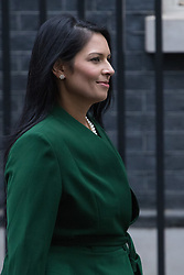 Downing Street, London, January 10th 2017. International Development Secretary Priti Patel leaves the weekly UK cabinet meeting at 10 Downing Street as the new Parliamentary term begins.