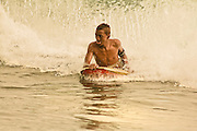 candid capture of body boarder in the surf off Kona Reef, Hawaii