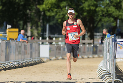 01.07.2015, Olympiapark, Berlin, GER, Moderner F&uuml;nfkampf WM, im Bild Matthias Sandten, Verein Bonn, // during Mens relay race of the the world championship of Modern Pentathlon at the Olympiapark in Berlin, Germany on 2015/07/01. EXPA Pictures &copy; 2015, PhotoCredit: EXPA/ Eibner-Pressefoto/ Kleindl<br /> <br /> *****ATTENTION - OUT of GER*****