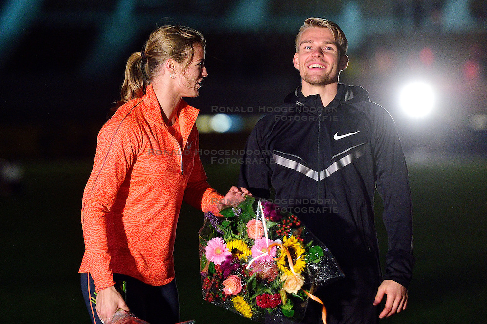 05-09-2015 NED: Flame Games 2015, Amsterdam<br /> De sfeervolle derde editie van het unieke atletiekevenement trok duizenden sportliefhebbers naar het Olympisch Stadion / Dafne Schippers