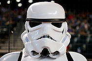 PHOENIX, AZ - MAY 14:  Star Wars character poses for a photo prior to the game between the San Francisco Giants and Arizona Diamondbacks at Chase Field on May 14, 2016 in Phoenix, Arizona.  (Photo by Jennifer Stewart/Getty Images)