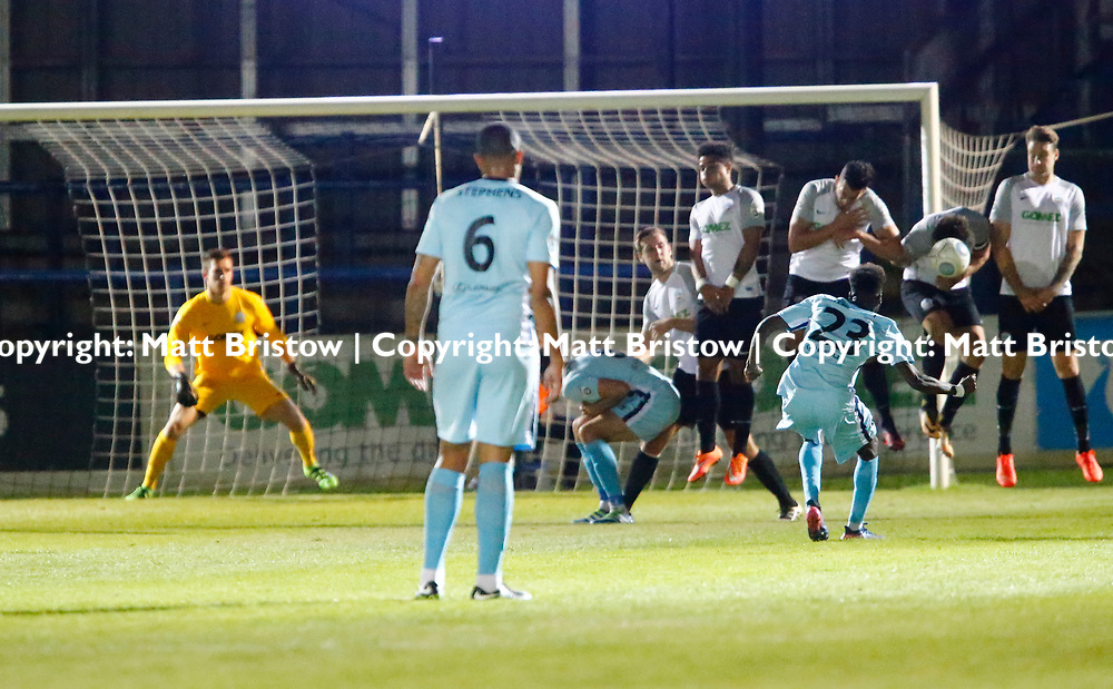 SEPTEMBER 12:  Top of the table Dover Athletic FChost eighth place Boreham Wood FC in Conference Premier at Crabble Stadium in Dover, England. The visitors, Boreham Wood  ran out winners a goal to nothing. (Photo by Matt Bristow/mattbristow.net)