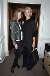 Left to right, ANOUSKA BECKWITH and her mother TAMARA BECKWITH at a tea party to celebrate the launch of Buccellati's new London store held at 33 Albemarle Street, London on 13th February 2007.<br />