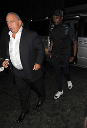Sir Philip Green and Will.I.Am at the Novikov restaurant in Mayfair, London, UK. 02/04/2014<br />