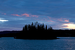 Tobin Harbor at sunset, Isle Royale National Park, Michigan, United States of America